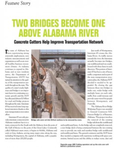 Concrete Cutters Help Improve Transpiration Network